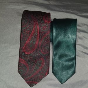 Two Men's Polyester Ties